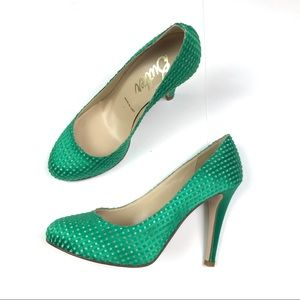 Butter Sherwin Heels Green Size 6